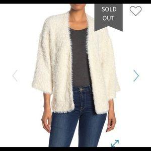 Gorgeous creamy fuzzy open cardigan sweater- new!